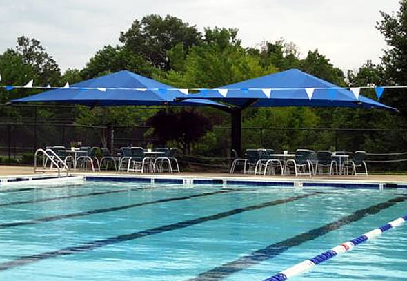 cantilever pool shade structures