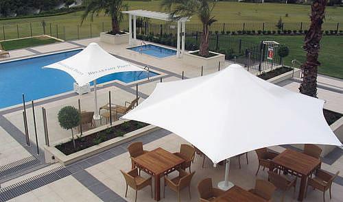 umbrella pool shades