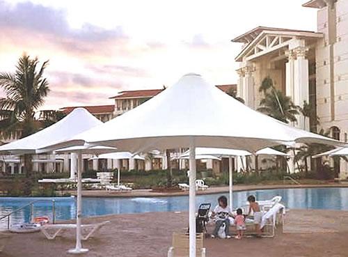 umbrella pool shade structures